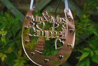 Personalised Wedding Mr& Mrs Good Luck Horseshoe, Rose Gold, bridal gift, topper
