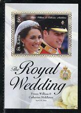 ST. KITTS  ROYAL WEDDING OF PRINCE WILLIAM & KATE MIDDLETON IMPERF S/S I MINT NH