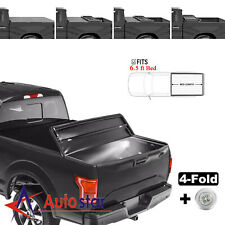 6.5ft 4-Fold Soft Truck Bed Tonneau Cover For 04-08 F150 05-08 Lincoln Mark LT