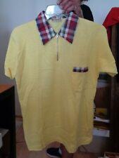 "New listing Nos 1940's-1950's Berwyck Yellow + Plaid Trim ""General"" 1/4 Zipper Pullover! Ml"