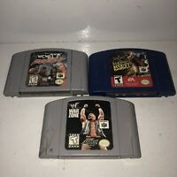 Nintendo 64 3 Game Wrestling Lot Tested WCW NWO WWF ECW War Zone Revenge N64