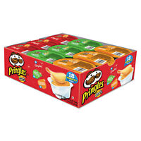 Pringles Potato Chips, Variety Pack, 0.74 oz Canister, 18/Box 18251