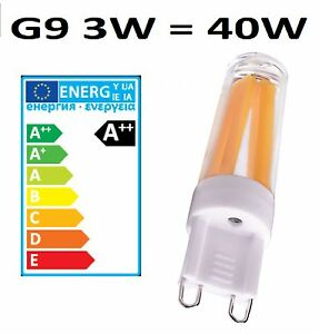 G9 LED Filament Clear Light Bulbs 3W = 40W 240V Dimmable White Halogen