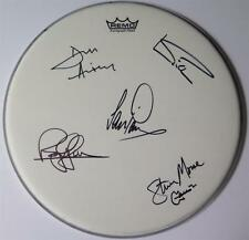 "DEEP PURPLE Signed Autograph 14"" Drum Head Drumhead by All 5 Members"