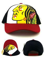 Chicago Blackhawks New American Needle Red Black White Head Era Snapback Hat Cap