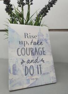 Splosh Have Faith Courage Inspirational Plaque Home Wall Decor