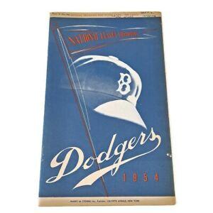 BROOKLYN DODGERS 1954 PROGRAM/SCORECARD AUTHENTIC SCORED JACKIE ROBINSON VINTAGE