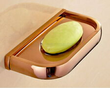 Rose Gold Brass Square Soap Dishes Wall Mounted Bathroom Soap Storage Rack