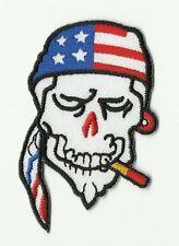 écusson ECUSSON PATCHE THERMOCOLLANT BIKER AMERICAIN USA DIMENSIONS 7,5 X 5,5 CM
