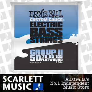 Ernie Ball 2804 Flat Wound Group II Electric Bass Guitar Strings .050 - .105