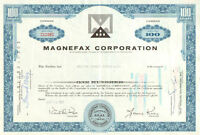 Magnefax Corporation > 1960s 1970s Pennsylvania stock share certificate
