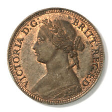 Great Britain Queen Victoria Farthing - 1874 H in Uncirculated Condition, KM-753