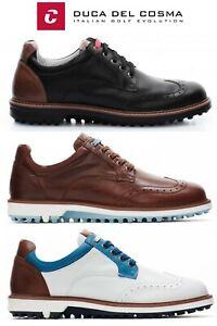 Duca Del Cosma Eldorado Waterproof Nappa Leather Golf Shoes, Spikeless  FREE P&P