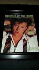 Jack Wagner Lighting Up The Night Rare Original Promo Poster Ad Framed!