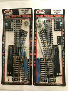 ATLAS HO Train Track Remote #850 LEFT & #851 RIGHT Nickel Silver Snap Switch New