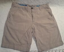 Robert Graham Size 34 Tan Plaid Shorts Flat Front Cotton 4 Pocket Bicycle Flips