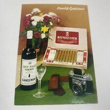 Ritmeester Cigars - Sandeman Dry Pale Sherry - EXA Camera POSTCARD Netherlands