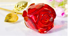 Glass Flower Rose Gift Crystal Flower Gift wedding gift lover gift