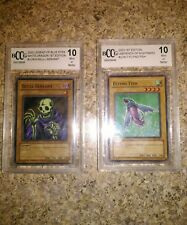 LOT 2 graded 10 Yu-Gi-Oh cards 1st editions legend of blue eyes labyrinth night