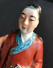 China Chinese Qing Dynasty Porcelain Statue height : 24.6 cm