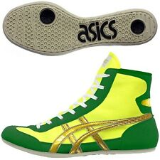 Asics Japan Wrestling Boxing Shoes Ex-Eo Yellow Green Gold Twr900 Flat Sole 07