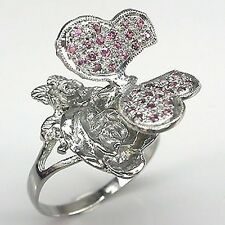 CeS Ring  Rhodolith Granat, Rose und Schmetterling