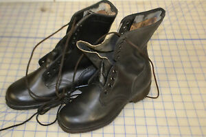 all leather boots work size 3 1/2 extra wide width ro-search sole vintage 1983