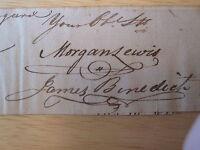 REVOLUTIONARY WAR MORGAN LEWIS FT GEORGE NYC NY GOVERNOR PRINCETON U IVY GRAD