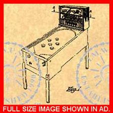 PINBALL/ARCADE MACHINE Patent-Harry Williams 1952 #622