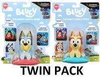 Bluey & Bingo GoGlow Buddy 2 in 1 Bedtime Night Lights TWIN PACK - FAST POST