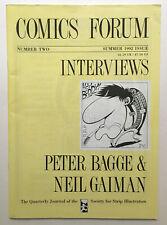 Comics Forum #2 Peter Bagge cover/interview Neil Gaiman interview 1992 Sandman