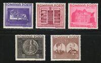 Romania 1941 MNH Mi 686-690 Sc B149-B153 Kings Michael and Carol I.WW2.Bible.**