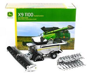 2021 FARM SHOW 1:64 ERTL John Deere X9 1100 TRACKED COMBINE *SILVER CHASE*  NIB
