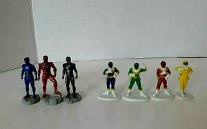 """Power Rangers Mixed Lot of 7 Toy Cake Topper Action Figures 2"""""""