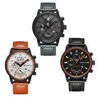 CURREN Männer Mode Edelstahl Datum Sport Quarz Armbanduhr I5L0
