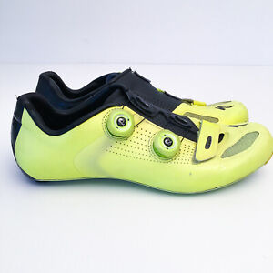 Specialized S-WORKS RD Carbon Road Bike Cycling Shoes US 10.6 44 Hi-Viz Yellow