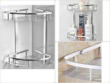 Bathroom Shelf Organizer Wall Storage Mounted For Shower Corner Hooks Aluminum