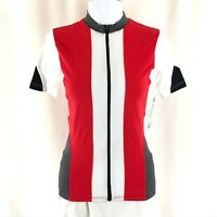 Alii Womens Cycling Jersey Full Zip Short Sleeve Pockets Red Size M