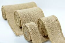 Hessian Jute Burlap Ribbon Vintage Wedding Table Runner Chair Sash Decoration