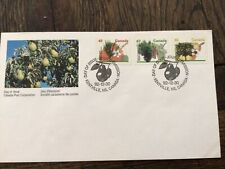 Stamps Canada 🇨🇦1992 Fruit Trees .Scott # 1364.1368.1372 Fdc
