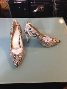 jessica simpson Womens Faux Snakeskin High Heel Pumps Size 8