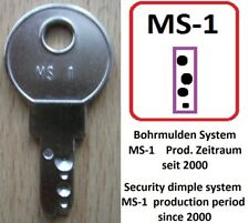 "1 Stück ""Schlüssel"" >MS-1< für CES, EATON Moeller >> MS1 KEY<< Bohrmuldensystem"