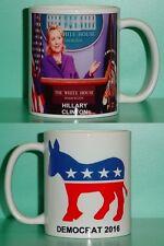 HILLARY CLINTON - Democrat - with 2 Photos - Designer Collectible GIFT Mug 03