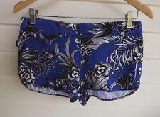Rip Curl Women's Blue White Black Floral Shorts - Size 10