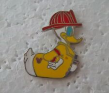 *~* DISNEY DONALD RUBBER DUCKY FIRE FIGHTER HM PIN *~*