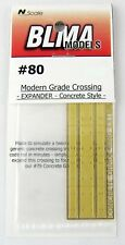 N Scale Modern Grade Crossing Expander (Concrete Style) - BLMA Models #80