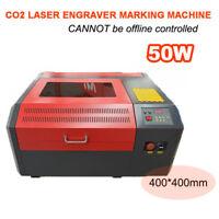 CO2 Laser Engraver 50W Cutting Logo Marking Engraving Machine 400*400mm Desktop