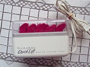 Clairol Quick Lift Heated Styling Clips Model L-12 Pink 11 Clips Used Condition