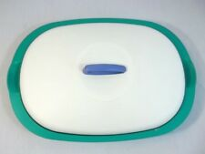 Tupperware Legacy Serving Dish Oval 1 3/4 Cups Teal White 3190