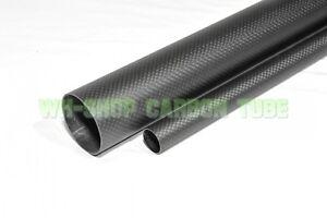 Wall 0.5mm 6 7 8 9 10 12 14 16 20mm  3K Carbon Fiber Tube/Shaft  Rolled L500mm